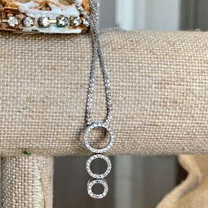Jewelry - Genuine Diamond White Gold Necklace. $600